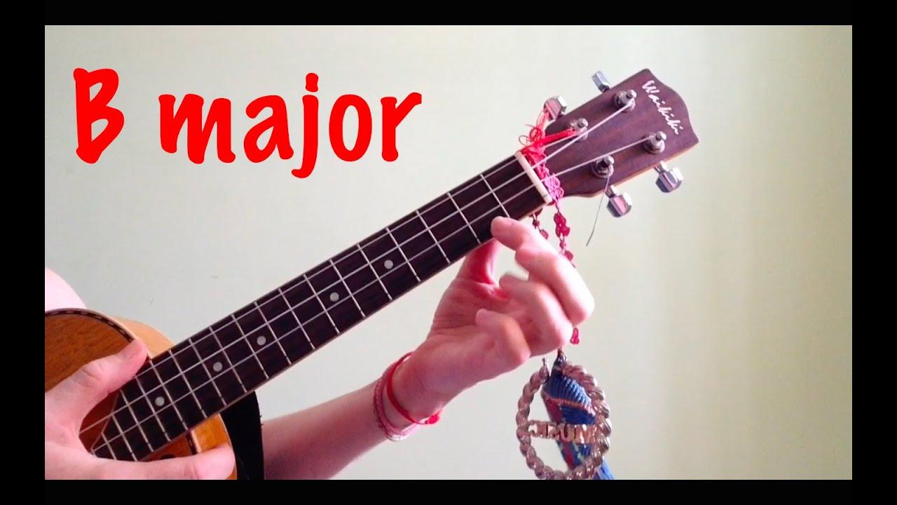 B major ukulele chords youtube hexwebz Image collections