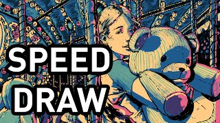 Carousel Illustration Speed Draw - Avery Kua
