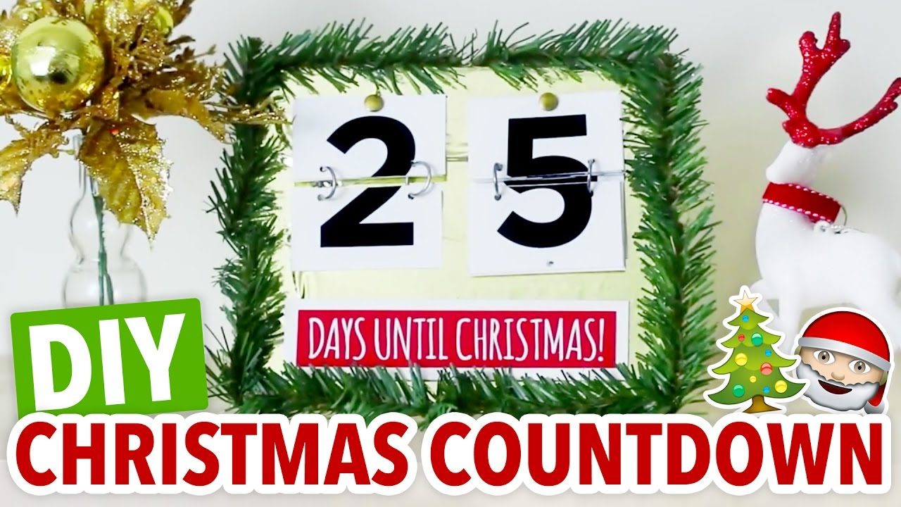 diy christmas countdown easy holiday calendar hgtv handmade youtube - Countdown Till Christmas Decoration