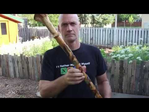 A Unique Hand Carved Walking Stick