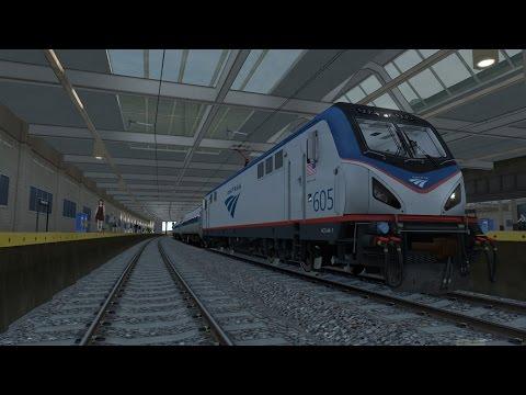 Let's Play Train Simulator 2016 [EP02]- Amtrak 605|HOB-NWK |