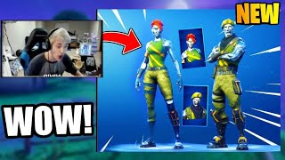 NINJA REACTS TO *NEW* DIECAST & CHROMIUM SKINS + *NEW* PERSUADER PICKAXE!! FORTNITE FUNNY MOMENTS