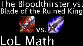 Скачать LoL Math The Bloodthirster Vs Blade Of The Ruined King
