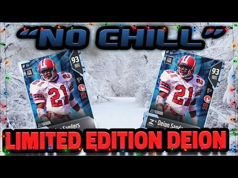 LIMITED EDITION DEION SANDERS | 28 BLANKET COVERAGE PACKS IN MADDEN 18