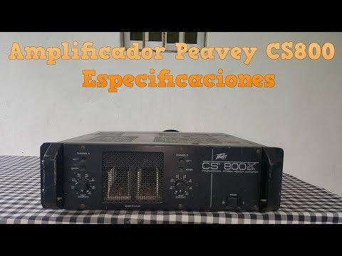 Amplificador Peavey Cs 800 espesificaciones