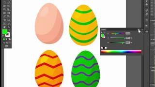 Easter eggs - Adobe Illustrator cs6 tutorial. How to create simple vector egg