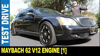2005 Maybach 62 [Part 1] 5.5L V12 luxurious black 6,000-pound limo   Jarek in Clearwater Florida USA