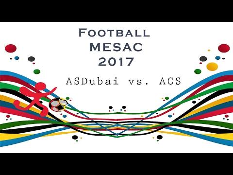 ACS FOOTBALL VARSITY GIRLS MESAC 2017 (ASDUBAI VS. ACS)