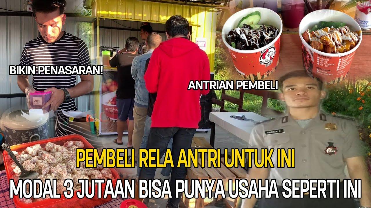 2 MINGGU BUKA POLISI GANTENG INI BISA JUAL 300 PORSI PERHARI, OMSET JUTAAN  | INDONESIA STREET FOOD