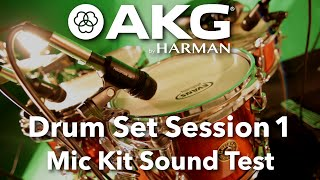 AKG Drum Set Session 1 - Microphone Kit - Sound Test