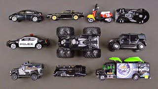 Learning Black Street Vehicles for Kids - Learning Colors Cars Trucks Hot Wheels - Organic Learning
