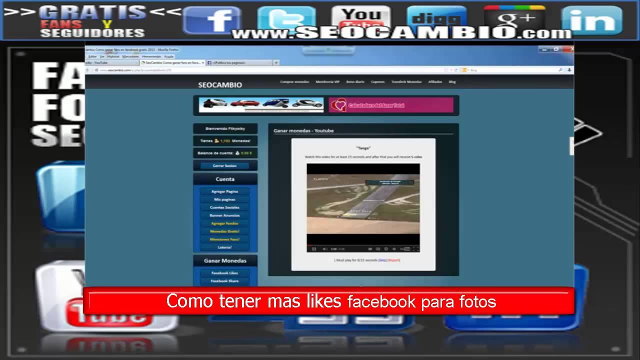 Como obtener likes en fotos de facebook | Paginas para obtener ...