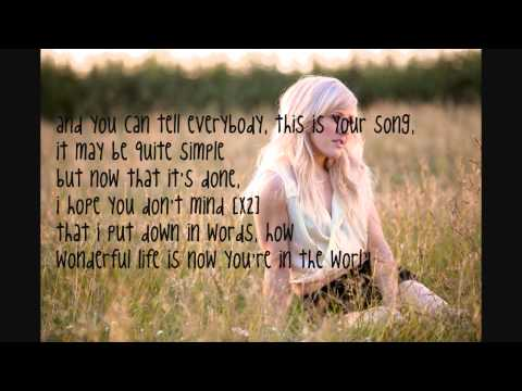Your Song Ellie Goulding Lyrics on Screen & Description