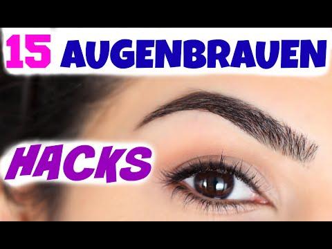 Augenbrauen formen und schminken mit Augenbrauenstift