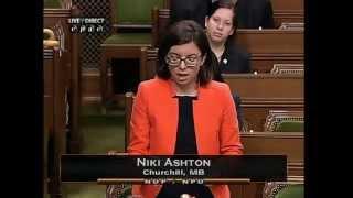 MP Niki Ashton - Churchill, statement to tribute Elijah Harper