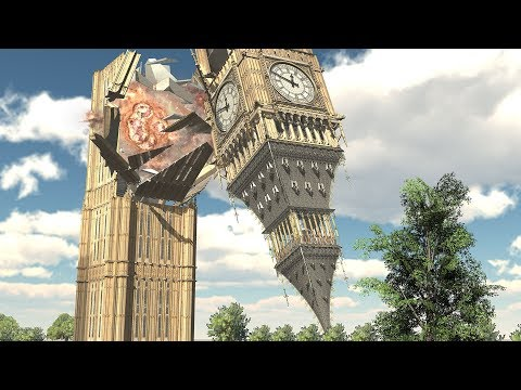 Demolition 3D: Big Ben Destroyed by Tanks!