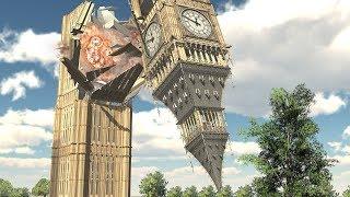 Demolition 3D: Big Ben Destroyed by Tanks!