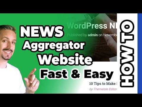 WordPress News Aggregator Website 🚀 (Fast & Easy)