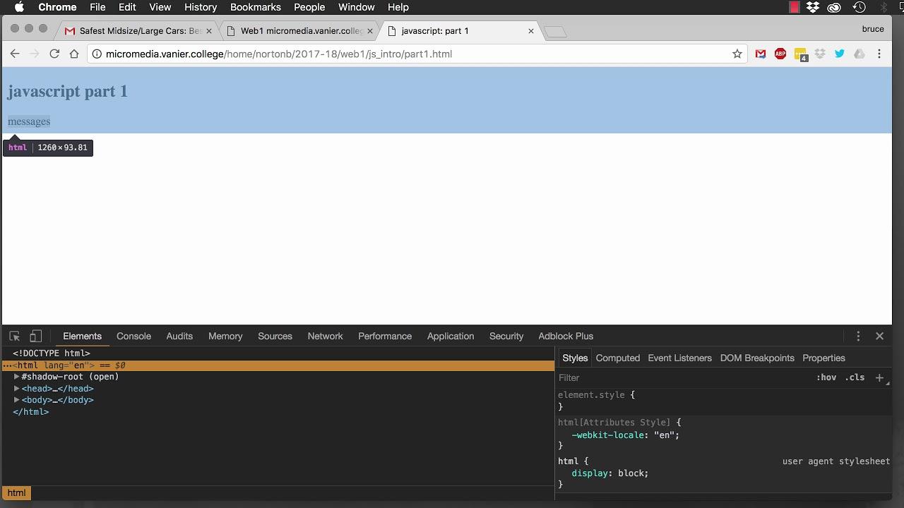 Javascript Part1 Console Log Getelementbyid Innerhtml Youtube