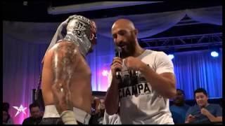 tommaso ciampa confronts pentagon jr aaw pro wrestling