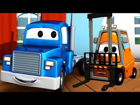 The Forklift and Carl Transform | Cars & Trucks construction cartoon for children