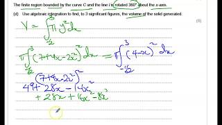 How to Use Integration to find Volume of Solid Generated when a Finite Region is Rotated-Part 3 of 3