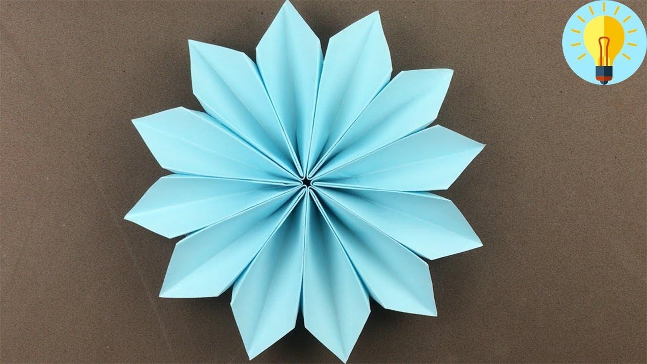 Blume Basteln Mit Papier Blume Falten Einfach Kinder Diy