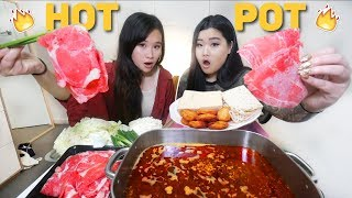 SPICY HOT POT SICHUAN FLAVOUR MUKBANG | Eating Show