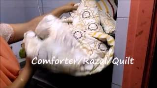 comforter wash cycle in lg front loading washing machine part iv