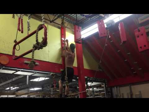Iron sport Houston  Ninja warrior Peg Board climbing challenge