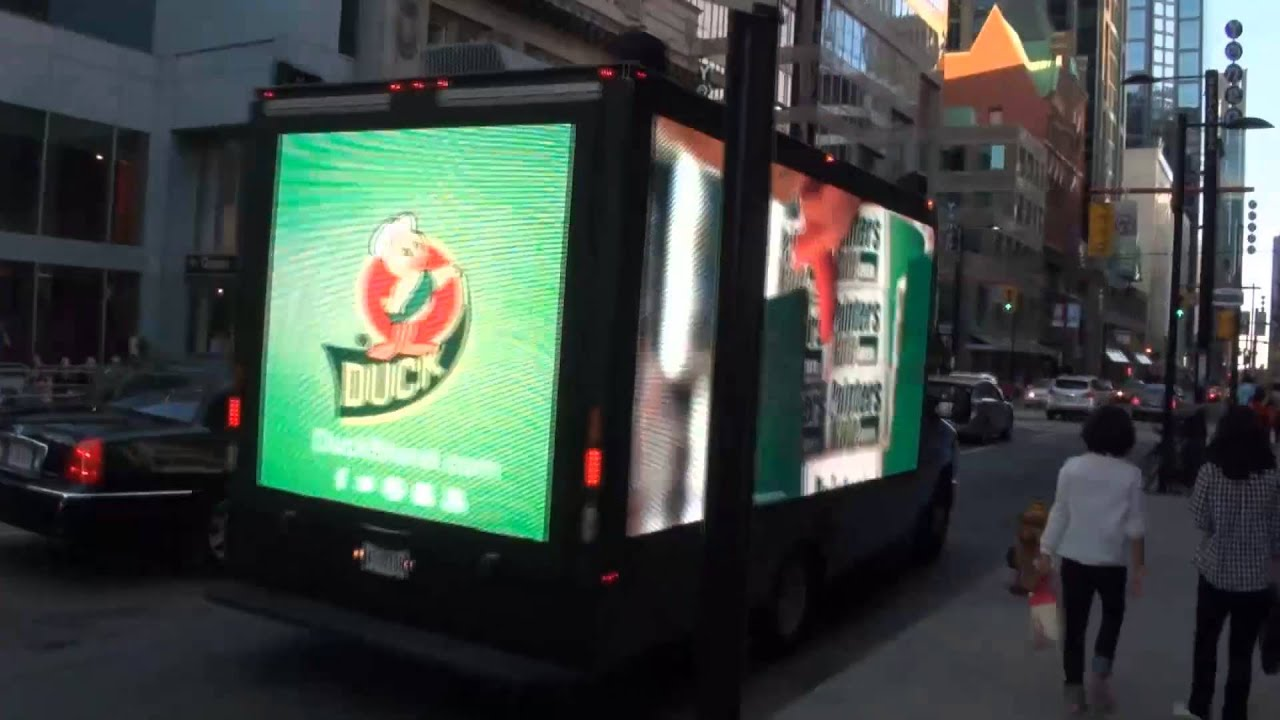 Mobile Digital Billboard on Advertising Truck-Toronto ...