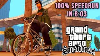 GTA:SA - 100% speedrun in [8:03] WORLD RECORD