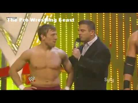 Matt Striker slaps Daniel Bryan for trash talking Michael Cole *RARE*