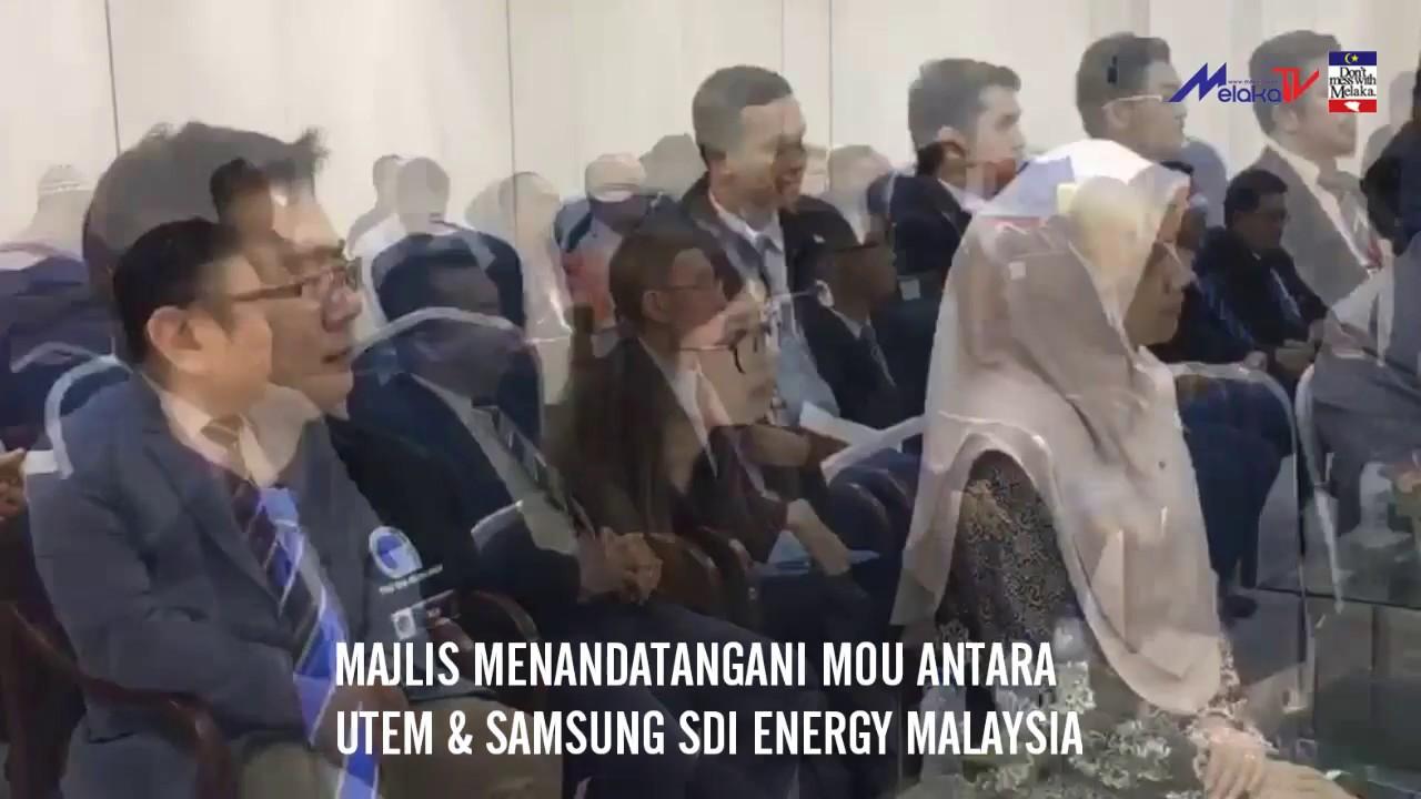 Utem Jalin Kerjasama Dengan Samsung Sdi Energy Malaysia