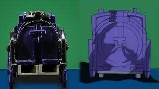 Astrotrain Bumper vs Original Animation