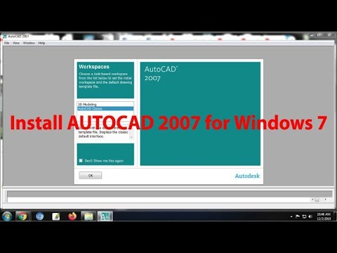 Install AUTOCAD 2007 For Windows 7