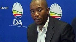 DA leader Mmusi Maimane delivers his party