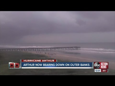Hurricane Arthur grows stronger near NC coast, Category 2 status expected