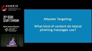 USENIX Security '19 - Detecting and Characterizing Lateral Phishing at Scale