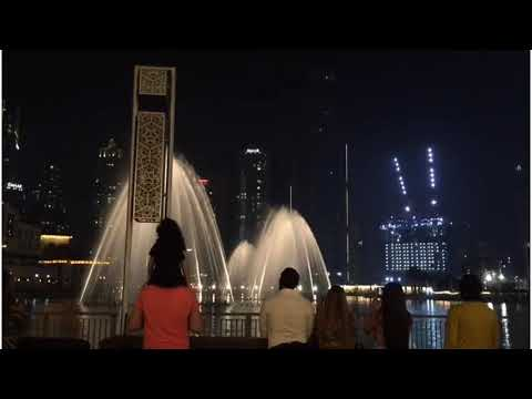 Dubai Fountain Show | Burj Khalifa Light Show With ale and fantoo|Covid 19|live 2020