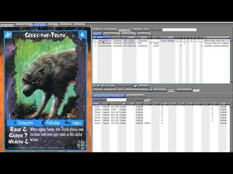 Rage CCG video 3 (3 Major Styles of Cards)