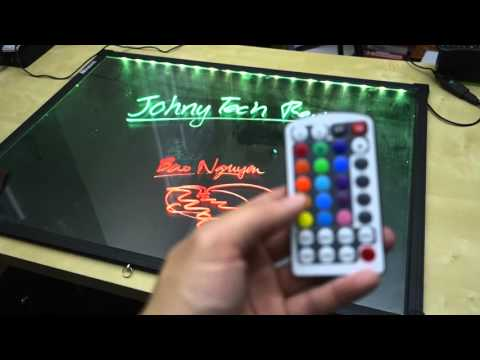 Homdox LED Controlled Neon Dry Erase Board REVIEW - YouTube