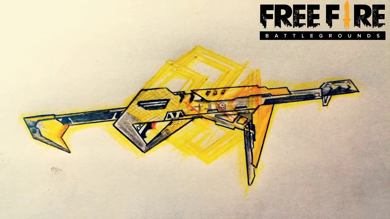 Vẽ Mp40 Bích Vàng trong FreeFire || DRAWING FLASHING SPADE MP40 ||