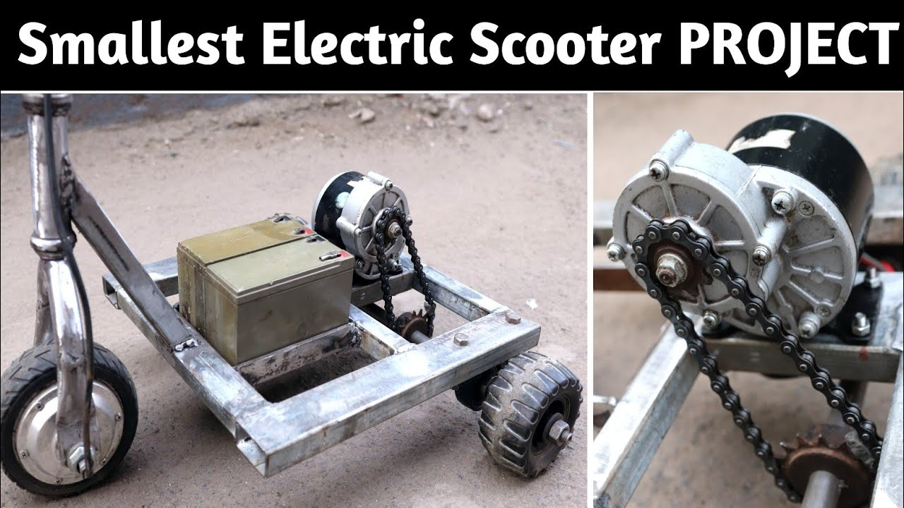 Build a Smallest Electric Scooter at  Home || DIY PROJECT