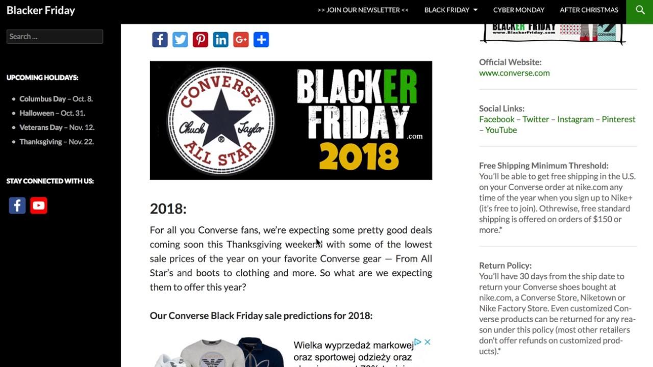 converse thanksgiving sale