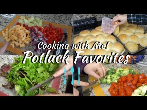 COOK WITH ME! | POTLUCK COOKING! | COOKING FOR A CROWD!