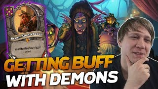 GETTING BUFF with Demons! | Hearthstone Battlegrounds | Savjz