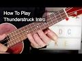 'Thunderstruck' Intro AC/DC Ukulele Lesson video & mp3