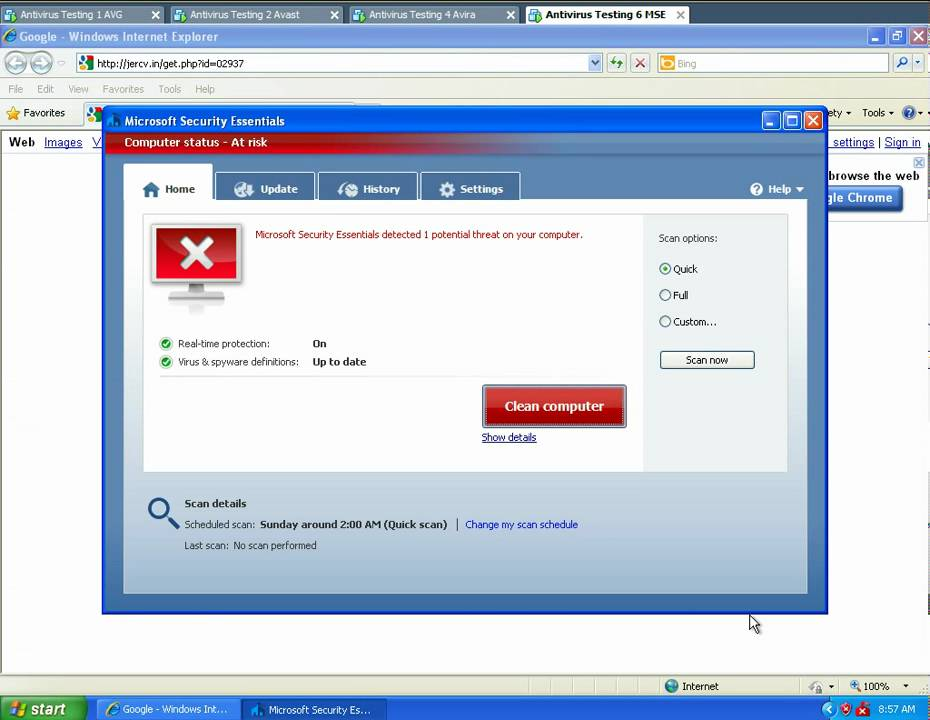 can you run avast and microsoft security essentials together