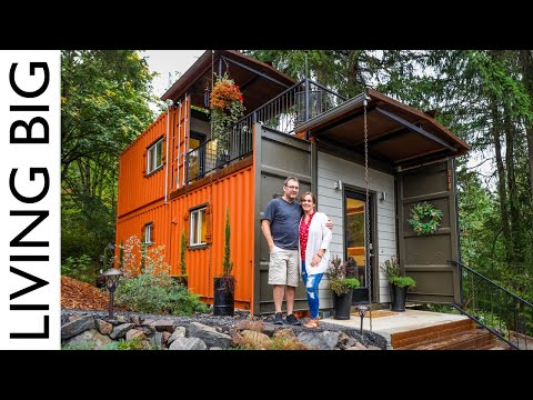 Couple Build Amazing Shipping Container Home For Debt Free